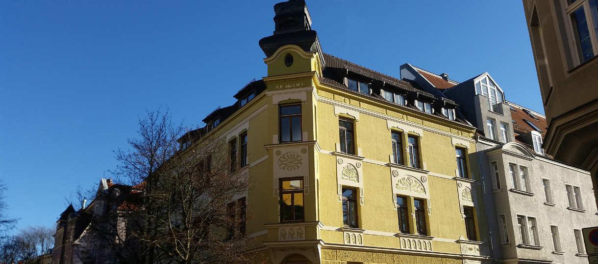 Ansicht vom Haus am Kanzleistandort - Kanzlei Schleifer Arbeitsrecht Augsburg